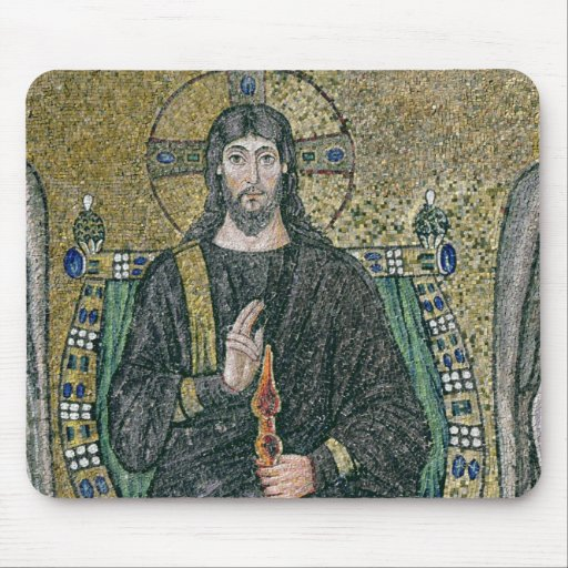 Christ enthroned with the angels mousepad