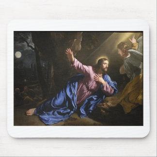 Christ garden faith hope love pray prayer angel mouse pad