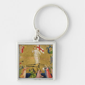 Christ Glorified in the Court of Heaven, 1423-24 Silver-Colored Square Key Ring