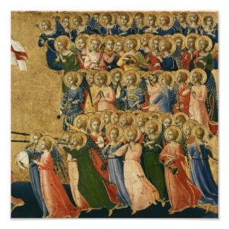 Christ Glorified in the Court of Heaven Poster