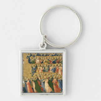 Christ Glorified in the Court of Heaven Silver-Colored Square Key Ring
