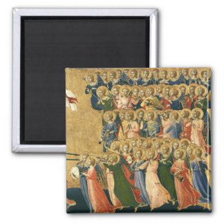 Christ Glorified in the Court of Heaven Square Magnet