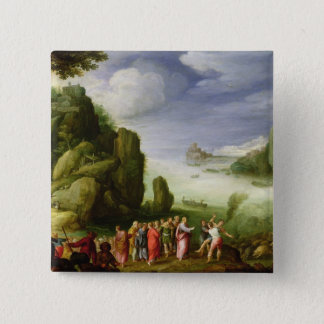 Christ Healing the Possessed of Gerasa, 1608 15 Cm Square Badge