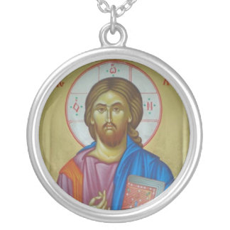 Christ Icon Silver Plated Necklace
