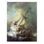 Christ in a storm on the sea of Galilee -Rembrandt Postcard