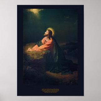 Christ in Gethsemane - Heinrich Hofmann 1890 Poster