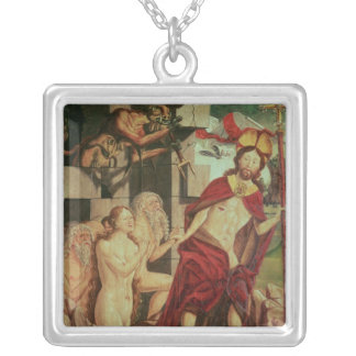 Christ in Hell Silver Plated Necklace
