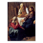 Christ In House Of Martha By Johannes Vermeer Card