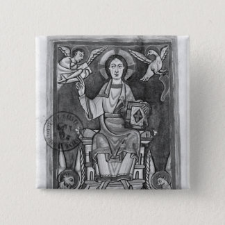 Christ in Majesty, from a Benedictional 15 Cm Square Badge