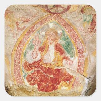 Christ in Majesty Square Sticker
