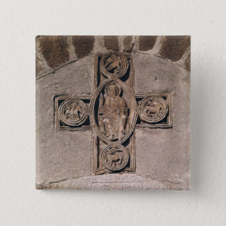 Christ in majesty with symbols of the 15 cm square badge