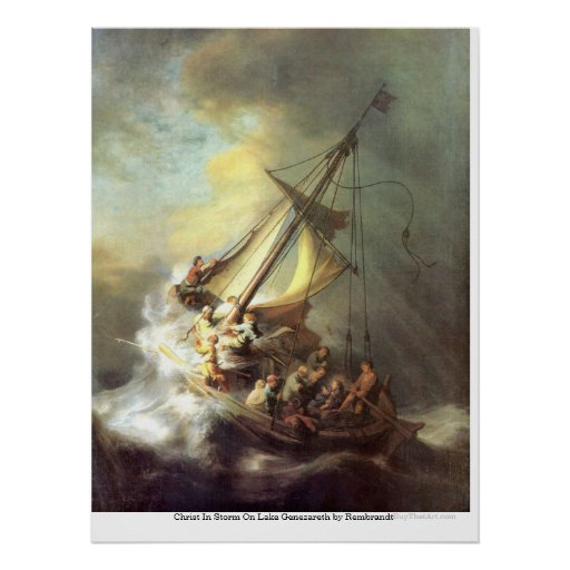 Christ In Storm On Lake Genezareth by Rembrandt Print