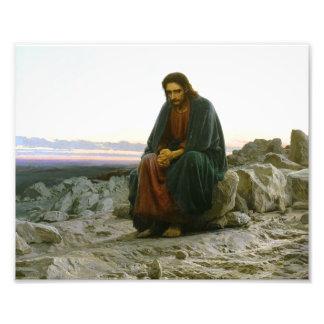 Christ in the Desert Art Photo
