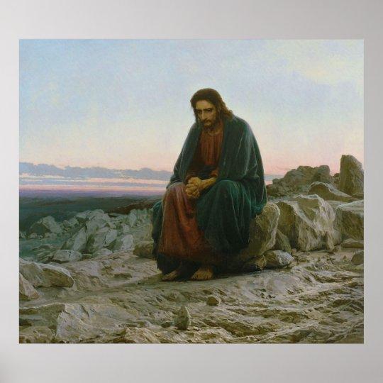 Christ in the Desert by Ivan Nikolaevich Kramskoi Poster