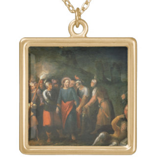 Christ in the Garden of Gethsemane Gold Plated Necklace