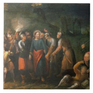 Christ in the Garden of Gethsemane Large Square Tile
