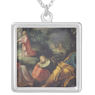 Christ in the Garden of Olives, 1625 Silver Plated Necklace