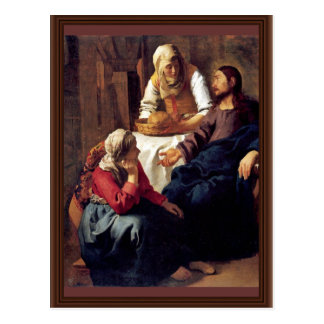 Christ In The House Of Martha And Mary,  By Vermee Postcard