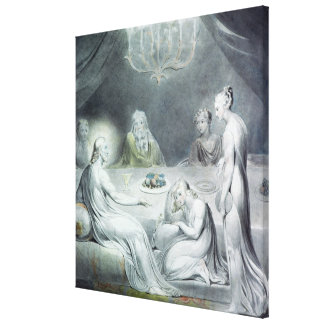 Christ in the House of Martha and Mary Canvas Print