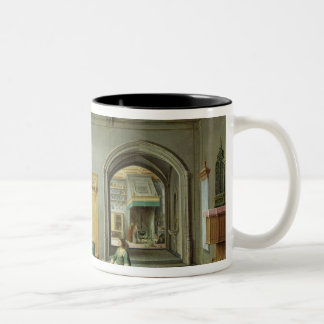 Christ in the House of Martha and Mary Two-Tone Coffee Mug