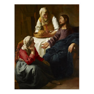 Christ in the House of Martha and Mary (Vermeer) Postcard