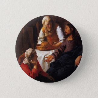 Christ in the House of Mary & Martha 6 Cm Round Badge