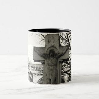 christ in town Two-Tone coffee mug