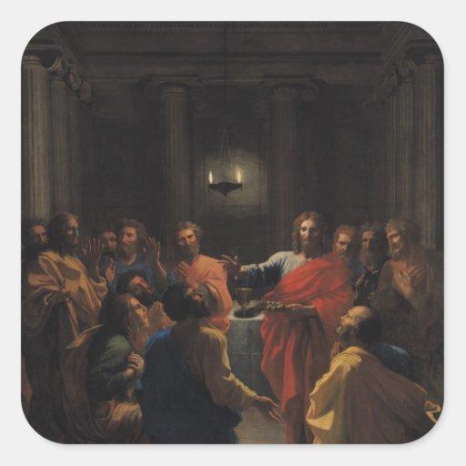 Christ Instituting the Eucharist Square Stickers