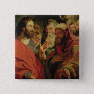 Christ Instructing Nicodemus 15 Cm Square Badge