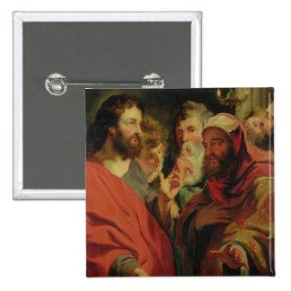 Christ Instructing Nicodemus 15 Cm Square Badge