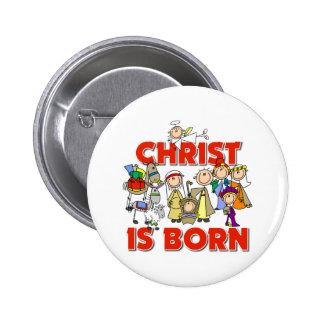 Christ Is Born Christmas Gift 6 Cm Round Badge