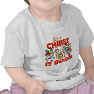 Christ Is Born Christmas Gift Tee Shirts
