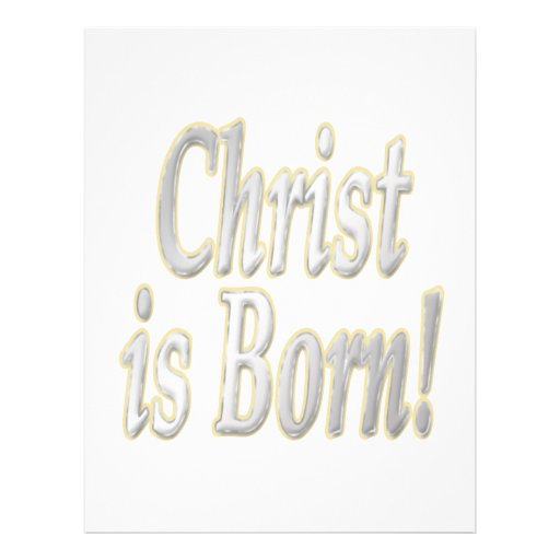 Christ Is Born Personalized Flyer