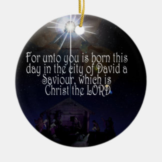 CHRIST IS BORN ORNAMENT Luke 2:11