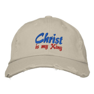 Christ Is My King Christian Embroidered Cap Embroidered Hat