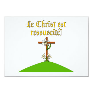 Christ is Risen 13 Cm X 18 Cm Invitation Card