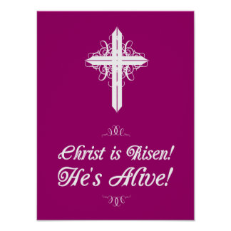 """Christ is Risen! He's Alive! Easter Poster 12""""x16"""""""
