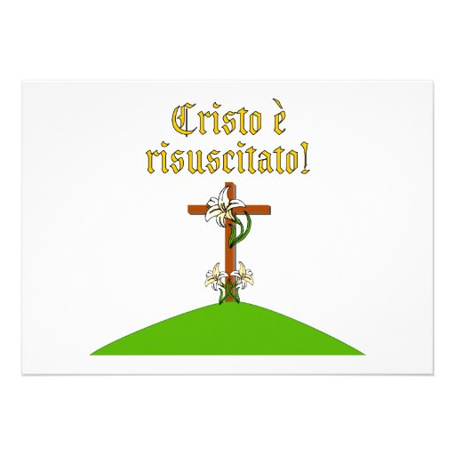 Christ is Risen Custom Announcement
