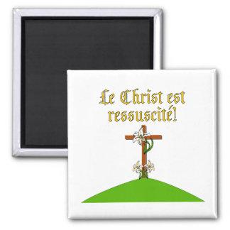 Christ is Risen Square Magnet