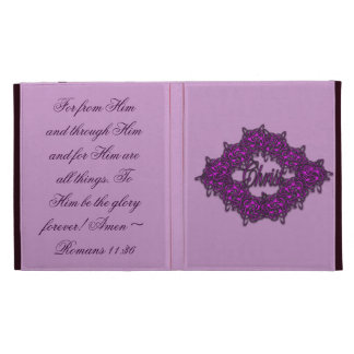Christ is the Center - Fashion Pink iPad Folio Cases