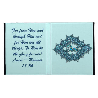 Christ is the Center - Ice Blue iPad Case