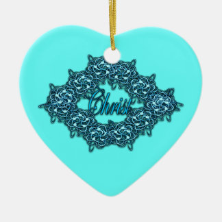 Christ is the Center - Ice Blue Christmas Ornament