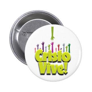 Christ Lives (2) 6 Cm Round Badge