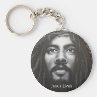 Christ Lives Basic Round Button Key Ring