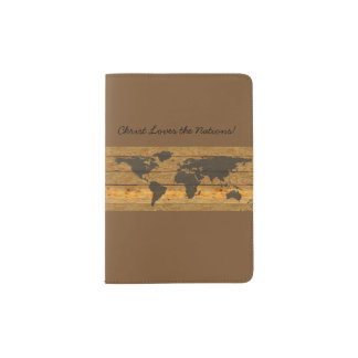 Christ Loves the Nations Passport Holder Map