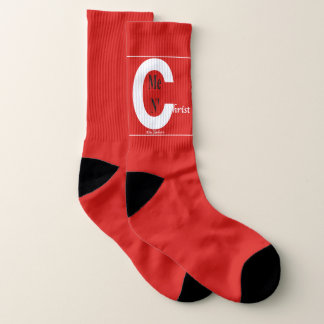Christ N' Me Large Red Socks 1