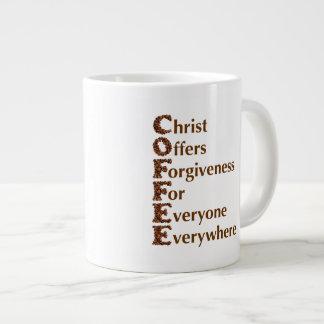 """""""Christ Offers Forgiveness For Everyone"""" 20 oz Mug Jumbo Mug"""