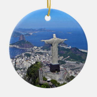 CHRIST ON CORCOVADO MOUNTAIN CHRISTMAS ORNAMENT