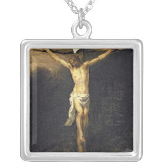 Christ on the Cross, 1672 Silver Plated Necklace