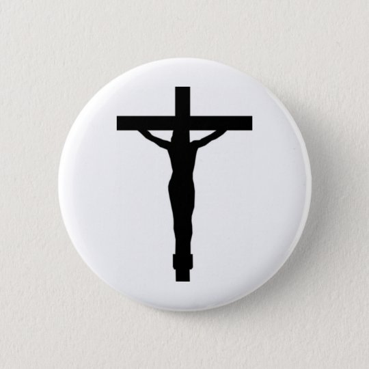 Christ On The Cross 6 Cm Round Badge